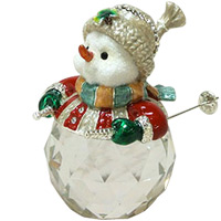スノーマン スキー XM-004 クリスマス オーナメント 飾り 北欧 雪だるま 小物 プレゼント