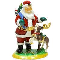 サンタとトナカイ XM-005 クリスマス オーナメント 飾り 北欧 小物 置物 プレゼント