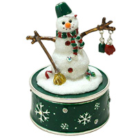 オルゴール スノーマン XM-006 クリスマス オーナメント 飾り 北欧 雪だるま 小物 プレゼント クリスマスソング