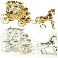 馬と馬車 XM-009 クリスマス オーナメント 飾り 北欧 馬車 小物 プレゼント
