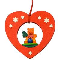 グラウプナー ハート XM-031 クリスマス オーナメント 飾り 北欧 クマ ツリー 小物 プレゼント