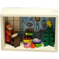 グラウプナー 小箱 サンタと欲しいものリスト XM-033 クリスマス オーナメント 飾り 北欧 ツリー サンタクロース 小物 プレゼント