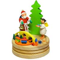 グラウプナー オルゴール サンタと天使 XM-050 クリスマス オーナメント 飾り 北欧 サンタクロース ツリー 小物 プレゼント クリスマスソング