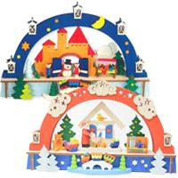 グラウプナー キャンドル LED クリスマス オーナメント 飾り 北欧 サンタクロース くま 小物 プレゼント アーチ