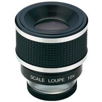虫眼鏡 スケールルーペ SL-10A 10倍 28mm 測量,検査用 高倍率ルーペ 池田レンズ