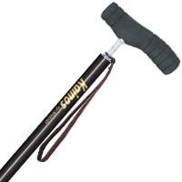 ウォーキングステッキ 杖 カイノス SOFT-GA LONG ロング 長さ調整式 ブラック ステッキ シナノ 杖 SINANO