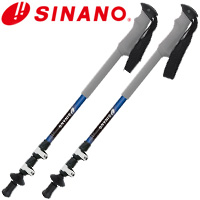 SINANO サントレース ロングトレイル125 ブルー トレッキングポール 2本1組 シナノ 杖 つえ ウォーキングステッキ ステッキ アルミ カーボン 登山 軽量 快適