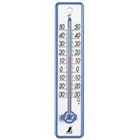 温度計 プラスチック製 20cmブルー 48351 健康管理 省エネ ベビー用品 シンワ測定