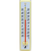 温度計 プラスチック製 20cmイエロー 48352 シンワ測定