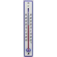 温度計 プラスチック製 25cmブルー 48356 シンワ測定