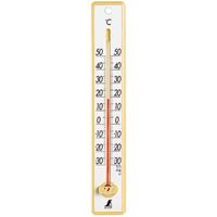 温度計 プラスチック製 25cmイエロー 48357 シンワ測定