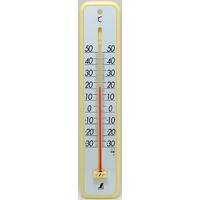 温度計 プラスチック製 30cmイエロー 48362 シンワ測定