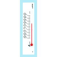 温度計 プチサーモ スクエア よこ 13.5cmマグネット付 ホワイト 48785 温度測定 学校用 オフィス用 家庭用 シンワ測定