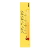 温度計 プチサーモ スクエア よこ 13.5cmマグネット付 イエロー 48786 温度測定 学校用 オフィス用 家庭用 シンワ測定