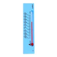 温度計 プチサーモ スクエア よこ 13.5cmマグネット付 ブルー 48787 温度測定 学校用 オフィス用 家庭用 シンワ測定