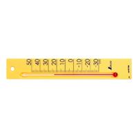 温度計 プチサーモ スクエア たて 20cmイエロー 48796 温度測定 学校用 オフィス用 家庭用 シンワ測定