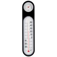 温湿度計 PCオーバル ブラック&ホワイト 48929 温度計 湿度計 健康管理 省エネ ベビー用品 シンワ測定