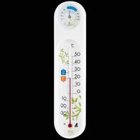 温湿度計 PCオーバル エコ ホワイト 48975 温度計 湿度計 健康管理 省エネ ベビー用品 シンワ測定