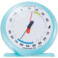 温湿度計 Q-1 丸型 15cmライトブルー 70494 温度計 湿度計 健康管理 省エネ ベビー用品 シンワ測定