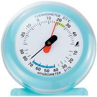 温湿度計 Q-3 丸型 6.5cmライトブルー 70498 温度計 湿度計 健康管理 省エネ ベビー用品 シンワ測定
