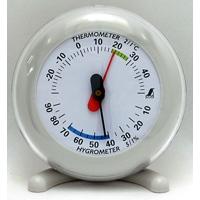 温湿度計 Q-3 丸型 6.5cmライトグレー 70499 温度計 湿度計 健康管理 省エネ ベビー用品 シンワ測定