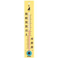 温度計 C-2 並板 イエロー 72526 健康管理 省エネ オフィス用 学校用 病院用 シンワ測定