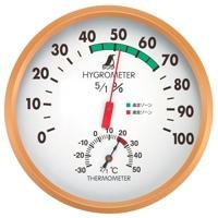 温湿度計 G 丸型 15cm 72605 温度計 湿度計 健康管理 省エネ ベビー用品 シンワ測定