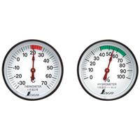 温度計・湿度計セット ST-4 丸型 4.5cm 72674 健康管理 省エネ ベビー用品 シンワ測定