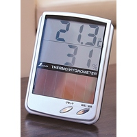 デジタル温湿度計 B 最高・最低 ソーラーパネル 72989 温度計 湿度計 健康管理 省エネ ベビー用品 シンワ測定