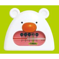 風呂用温度計 B-9 くまさん ホワイト&ピンク 73052 シンワ測定