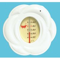 風呂用温度計 B-10 ローズ ホワイト 73097 シンワ測定