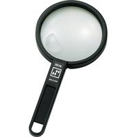 虫眼鏡 ルーペ B-4 リーディング用 二重焦点 100mm 2倍&4倍 75521 虫めがね 実験 検査 シンワ測定