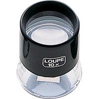 虫眼鏡 ルーペ T-2 高倍率 スケール付 28mm 10倍 75571 0.2mm単位 宝石鑑定 検査 測量 スケール付きルーペ スケール シンワ測定