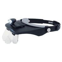 ヘッドルーペ LEDライト付 双眼ヘッドルーペ W-5 75737 虫めがね 工作 検品 検査 模型製作 とげ抜き 耳かき 読書 手芸 裁縫 園芸 シンワ測定