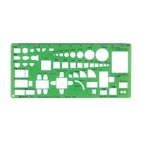 テンプレート TD-1 家具記号定規(大)1/50 66007 製図 設計 図面 シンワ測定