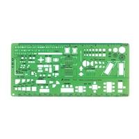 テンプレート TD-4 建築記号定規1/100・1/200 66010 製図 設計 図面 シンワ測定