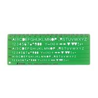 テンプレート TE-5 英数字記号定規 66013 製図 設計 図面 シンワ測定