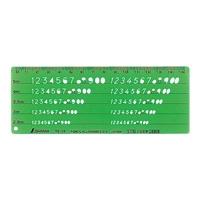 テンプレート TE-10 数字記号定規 66017 製図 設計 図面 シンワ測定