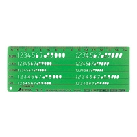 テンプレート TE-11 数字記号定規 66018 製図 設計 図面 シンワ測定