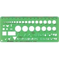 テンプレート TK-1 仕上記号定規 66027 製図 設計 図面 シンワ測定