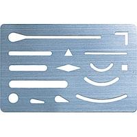 字消板 ステンレス製 70963 製図 図面 シンワ測定