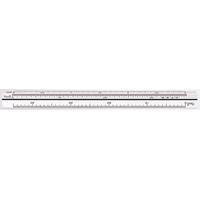 三角スケール B-15 15cm建築士用 74961 製図 図面 定規 建築士試験対応 シンワ測定