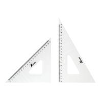 三角定規 アクリル製 24cm2枚組 75256 製図 図面 定規 シンワ測定