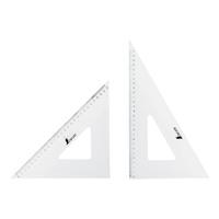 三角定規 アクリル製 30cm2枚組 75264 製図 図面 定規 シンワ測定