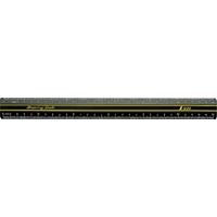 カラースケール 硬質塩化ビニール製 30cm 77038 製図 定規 直尺 シンワ測定