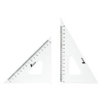 三角定規 アクリル製 18cm2枚組 77066 製図 図面 定規 シンワ測定