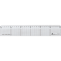 カッティングスケール アクリル製 30cmステン鋼付 77085 製図 定規 直尺 方眼目盛付 シンワ測定