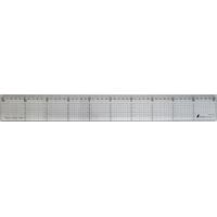 カッティングスケール アクリル製 50cmステン鋼付 77086 製図 定規 直尺 方眼目盛付 シンワ測定