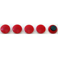 カラーマグネット Φ20 赤 5ヶ入 72010 マグネット 磁石 黒板 掲示 シンワ測定