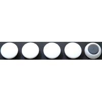 カラーマグネット Φ20 白 5ヶ入 72011 マグネット 磁石 黒板 掲示 シンワ測定